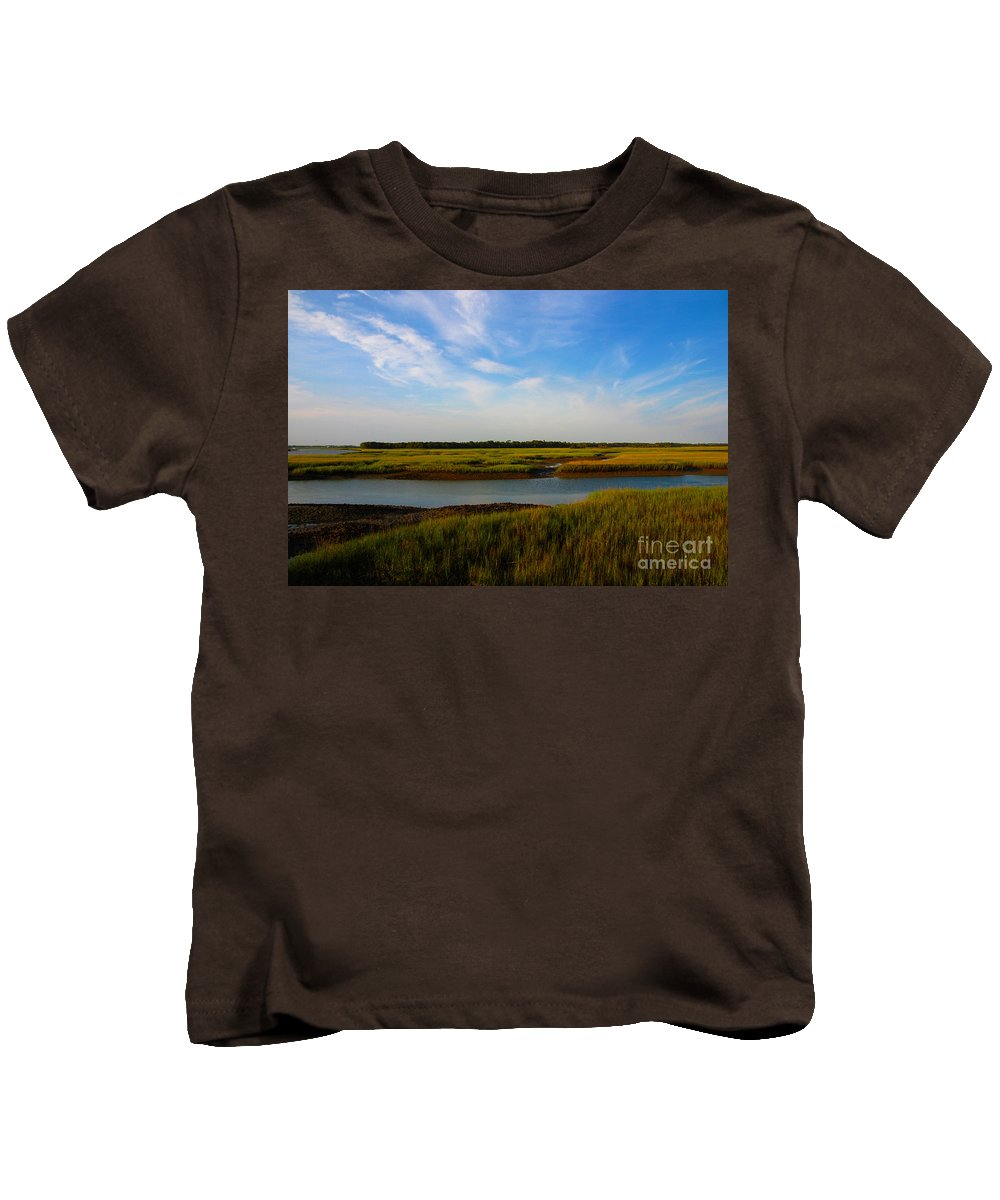 Marsh Kids T-Shirt featuring the photograph Marshland Charleston South Carolina by Susanne Van Hulst