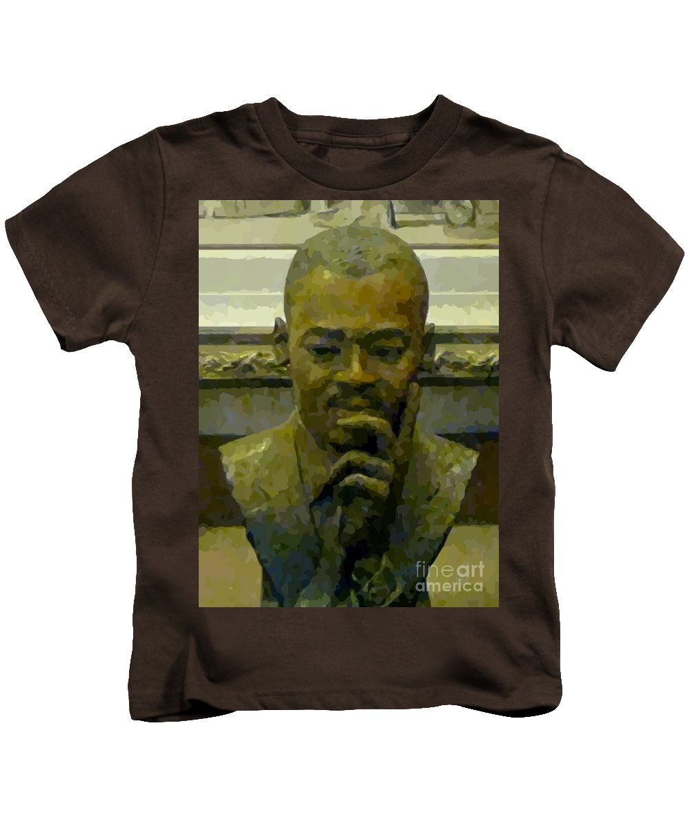 Martin Luther King Kids T-Shirt featuring the painting Martin Luther King by John Malone