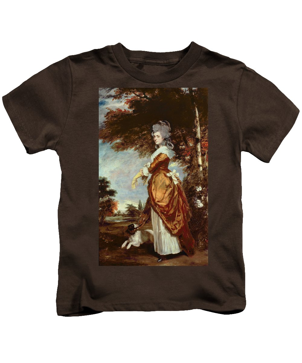 Woman Kids T-Shirt featuring the painting Mary Amelia First Marchioness Of Salisbury by Sir Joshua Reynolds