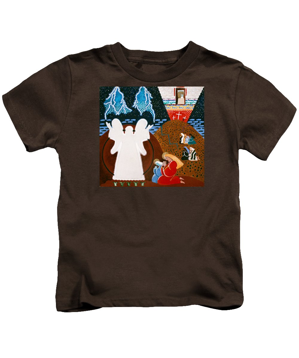 Angel Kids T-Shirt featuring the painting Mary Magdalene by Sharron Loree