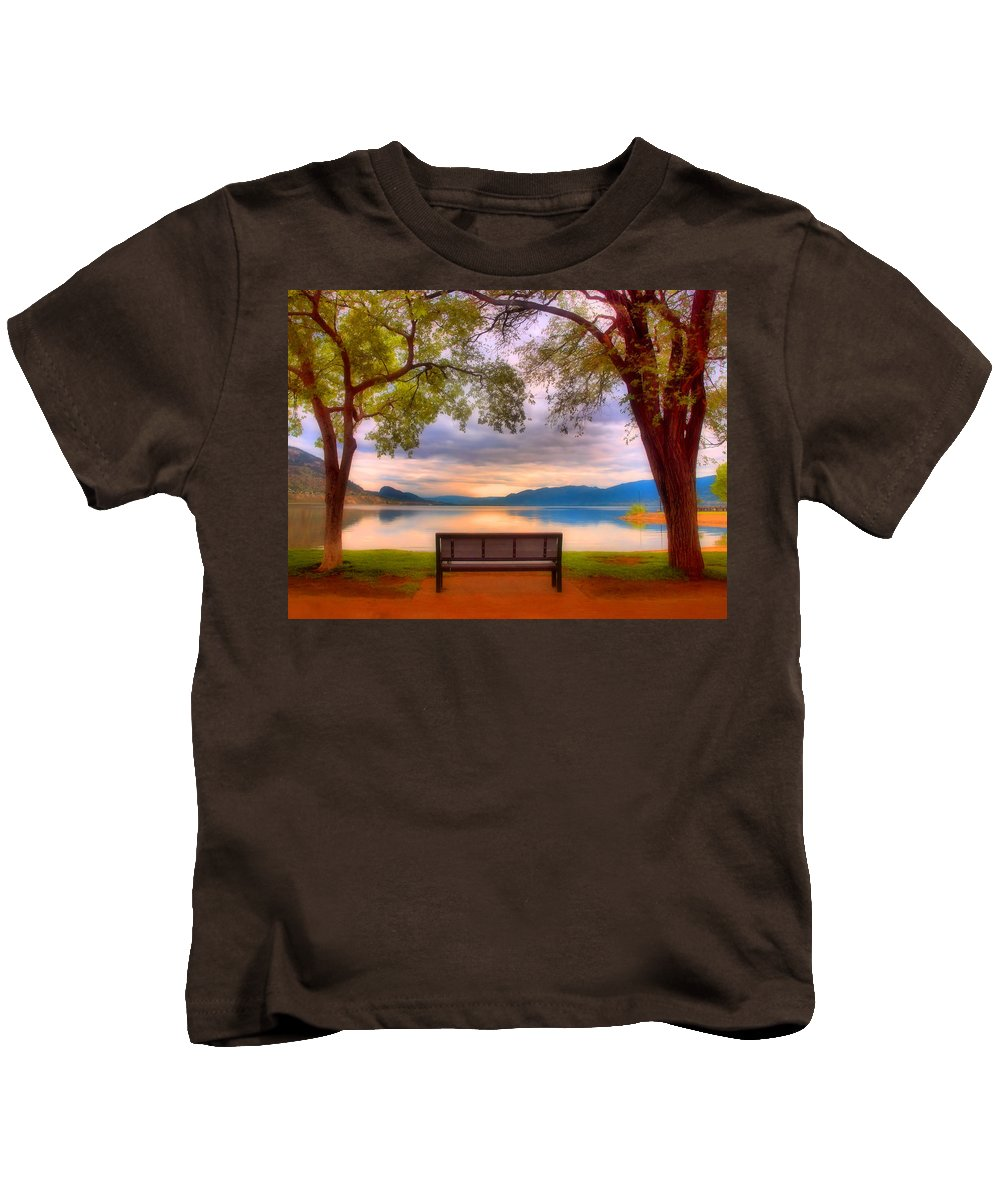 Bench Kids T-Shirt featuring the photograph May 23 2010 by Tara Turner