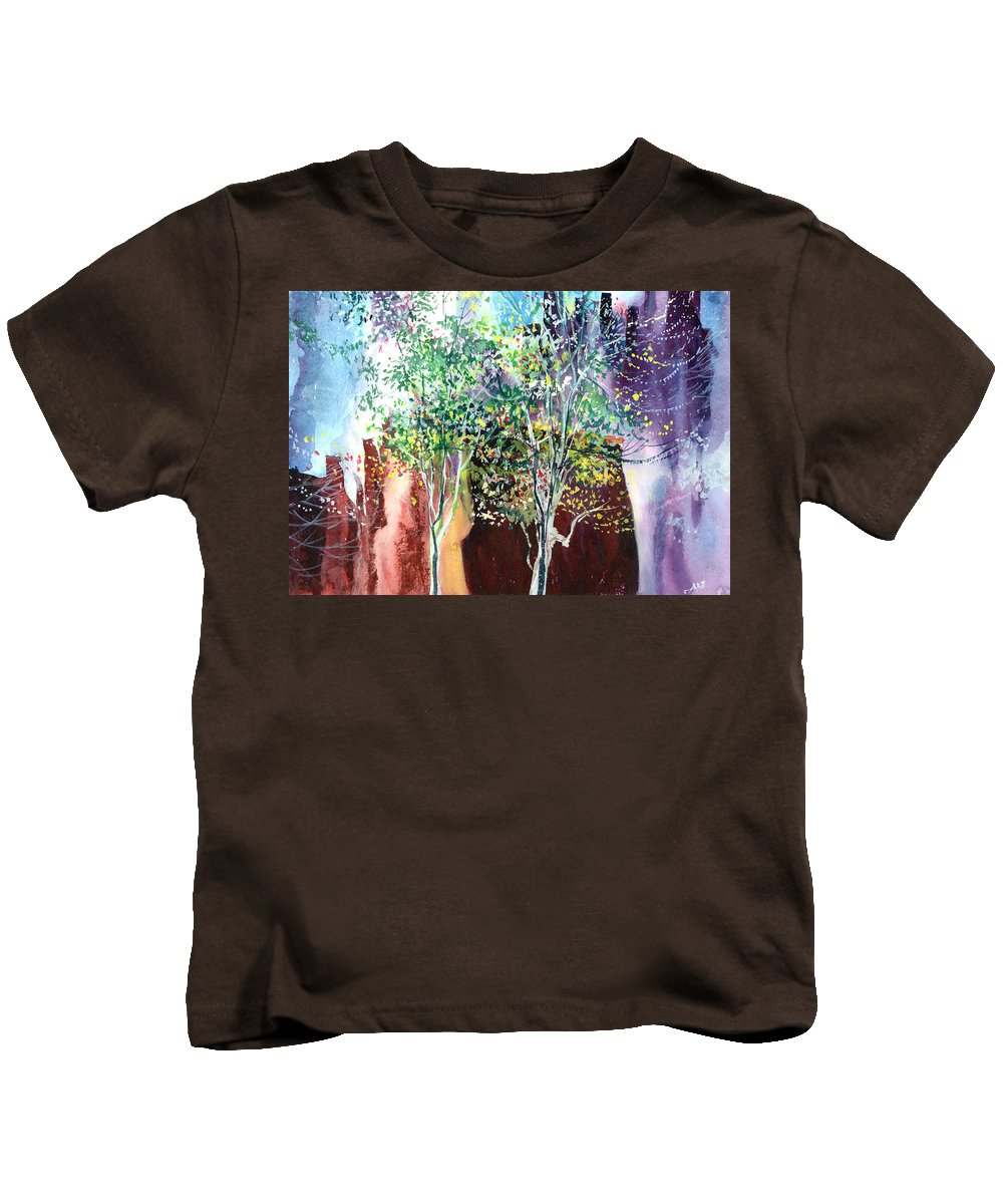 Nature Kids T-Shirt featuring the painting Maya by Anil Nene