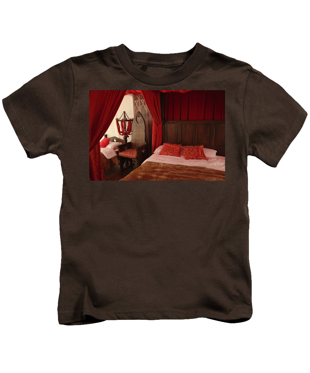 Medieval Kids T-Shirt featuring the photograph Medieval Glamping Tent by Adrian Wale