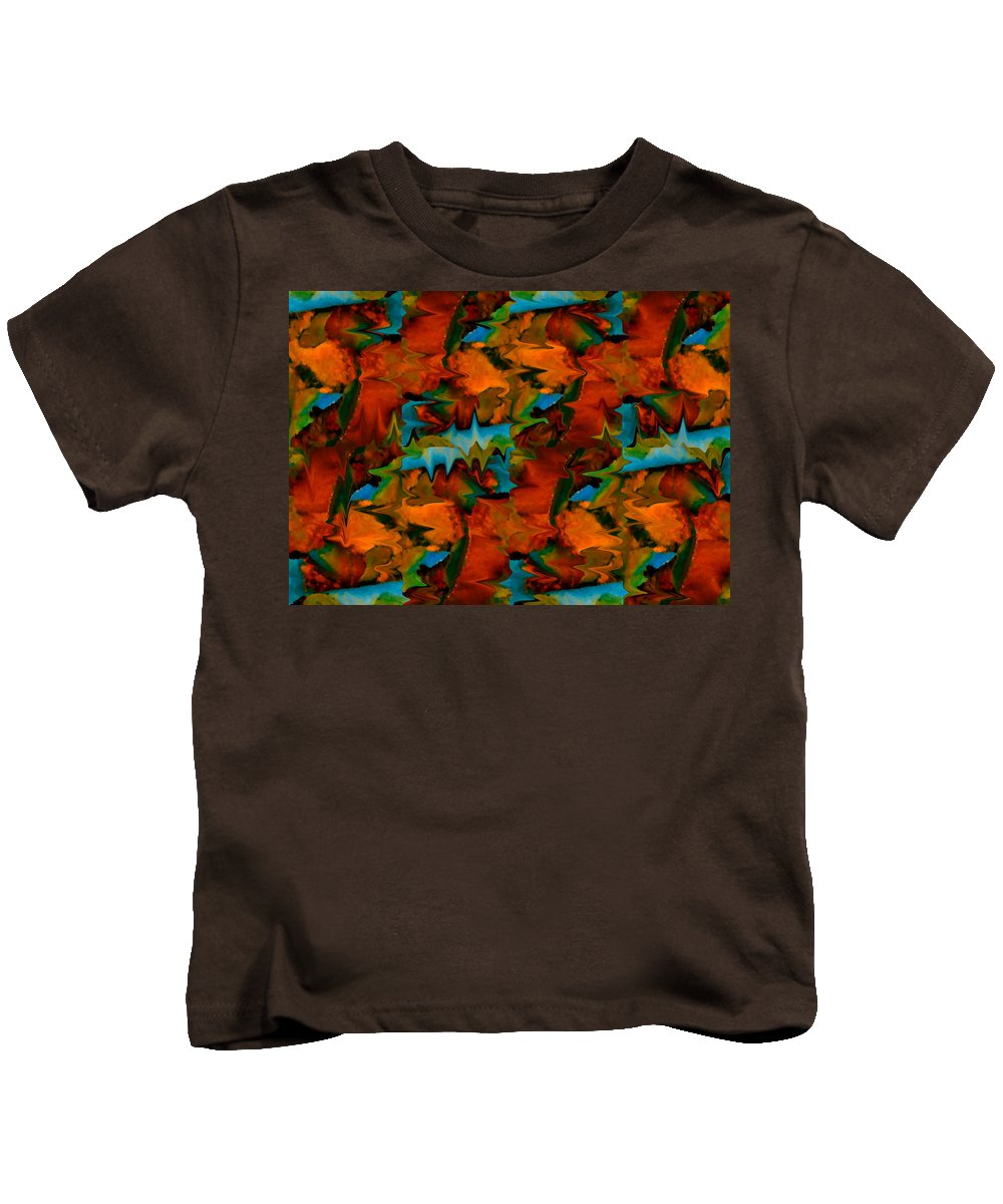 Abstract Kids T-Shirt featuring the painting Meltdown by Stephen Anderson