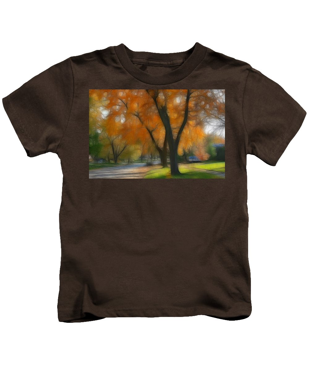 Autumn Kids T-Shirt featuring the photograph Memory Of An Autumn Day by Lyle Hatch