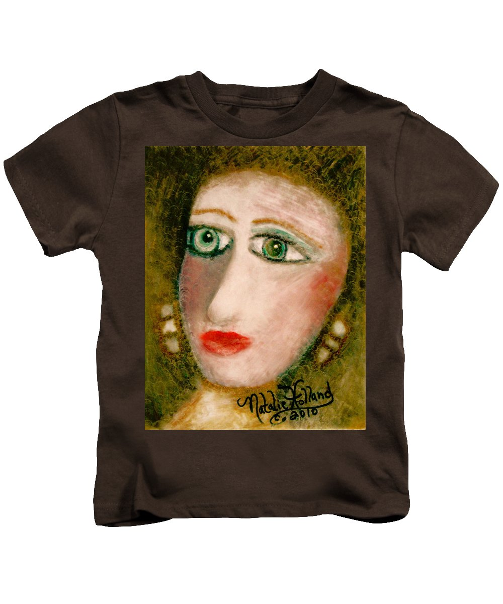 Expressionism Kids T-Shirt featuring the painting Mesmerized by Natalie Holland