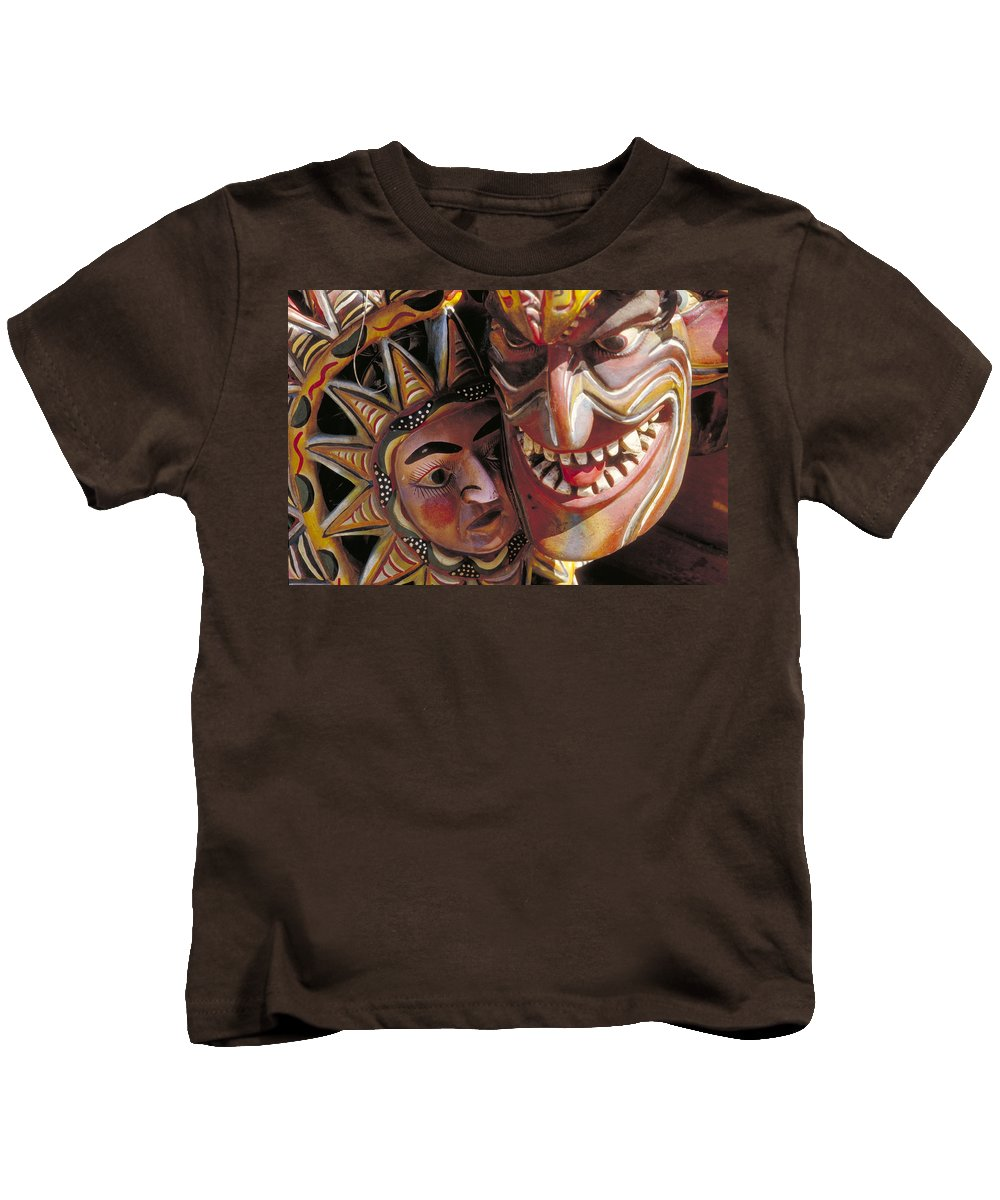 Color Kids T-Shirt featuring the photograph Mexican Masks by Jerry McElroy