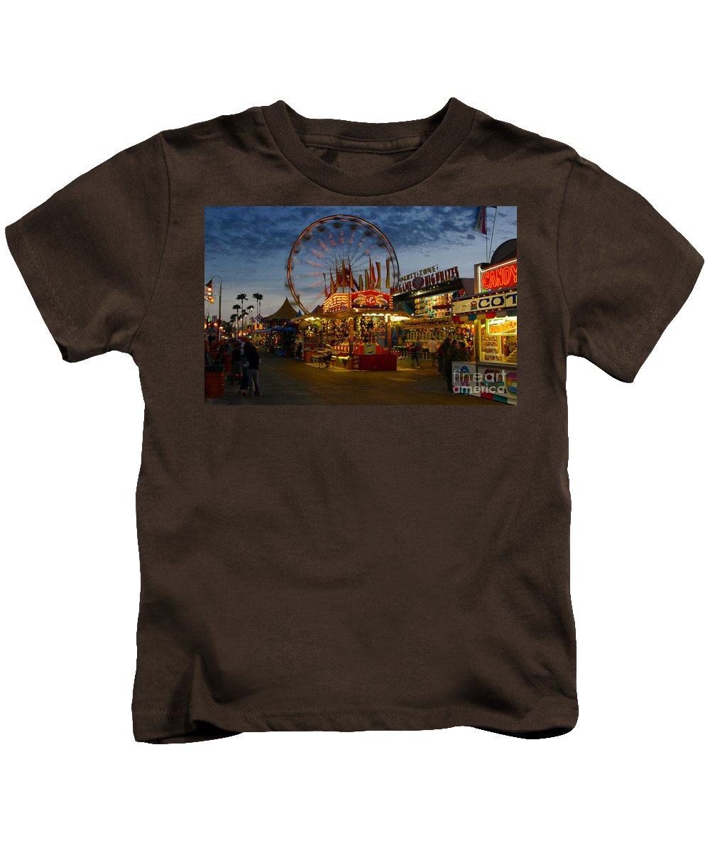 Midway Kids T-Shirt featuring the photograph Midway by David Lee Thompson