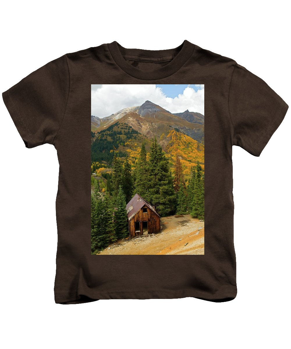 Colorado Kids T-Shirt featuring the photograph Mining Shack by Steve Stuller