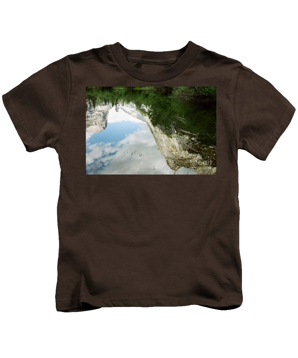 Mirror Lake Kids T-Shirt featuring the photograph Mirrored by Kathy McClure