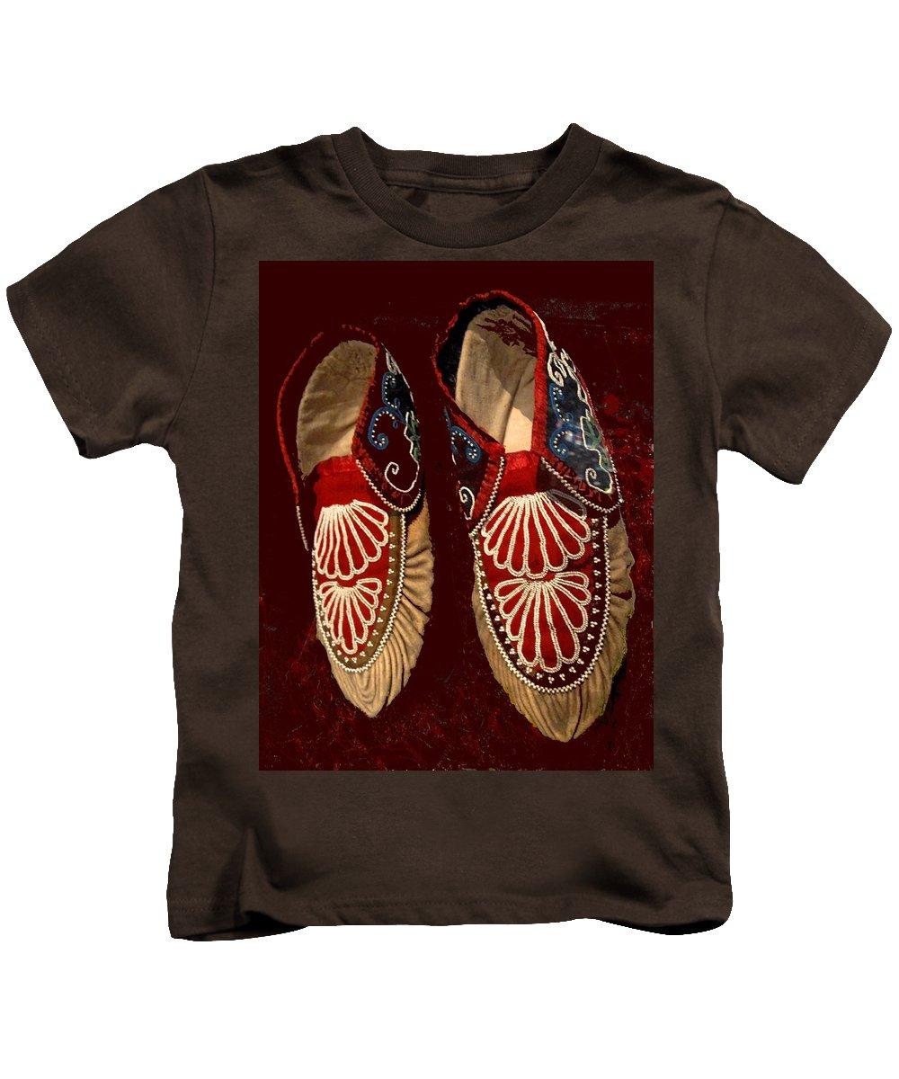 Aboriginal Kids T-Shirt featuring the photograph Moccasins by Ian MacDonald