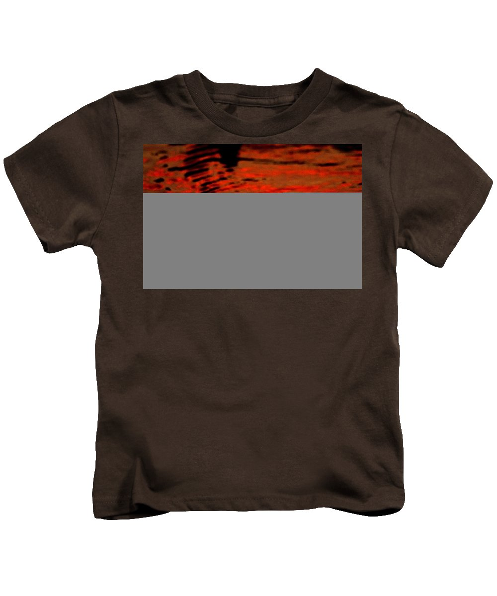 Water Kids T-Shirt featuring the photograph Molten Lava by Donna Blackhall