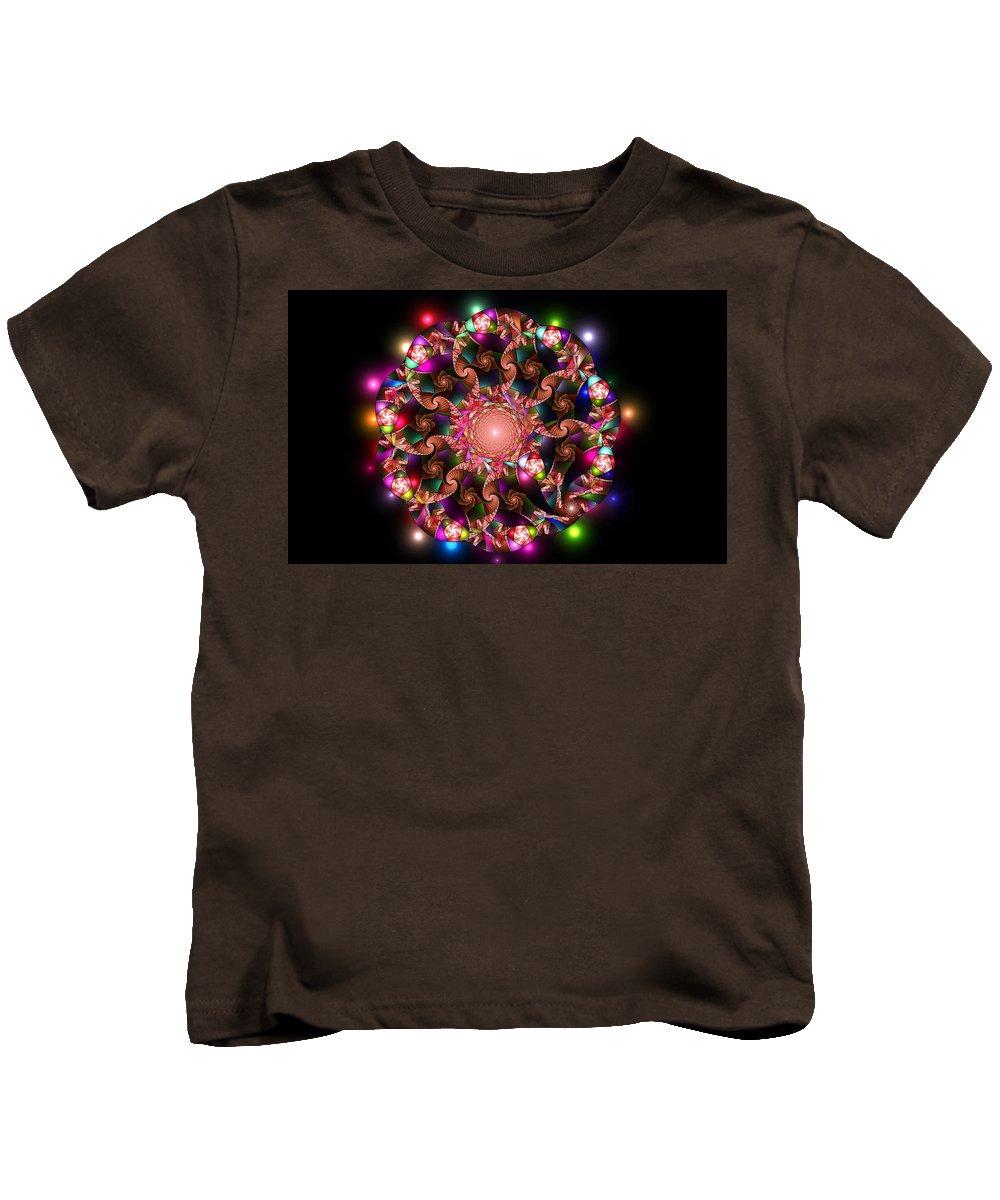 Elena Riim Kids T-Shirt featuring the digital art Mosaica by Elena Riim