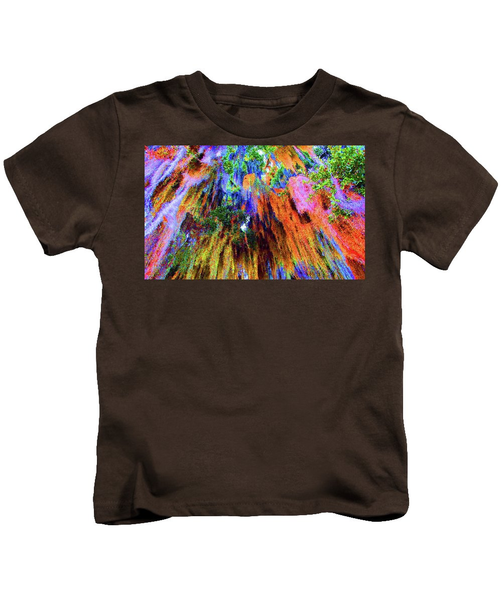 Moss Kids T-Shirt featuring the photograph moss of Color by Jost Houk