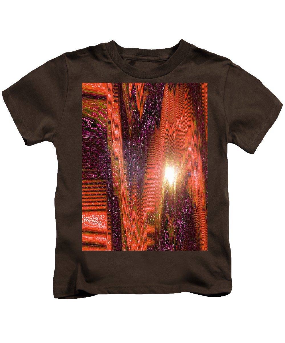 Moveonart! Digital Gallery Kids T-Shirt featuring the digital art Moveonart Beware Of Worldy Deception by Jacob Kanduch