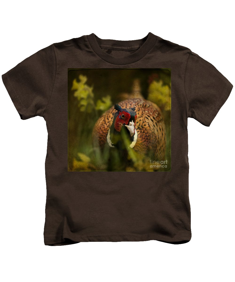 Pheasant Kids T-Shirt featuring the photograph Mr Spring by Angel Tarantella