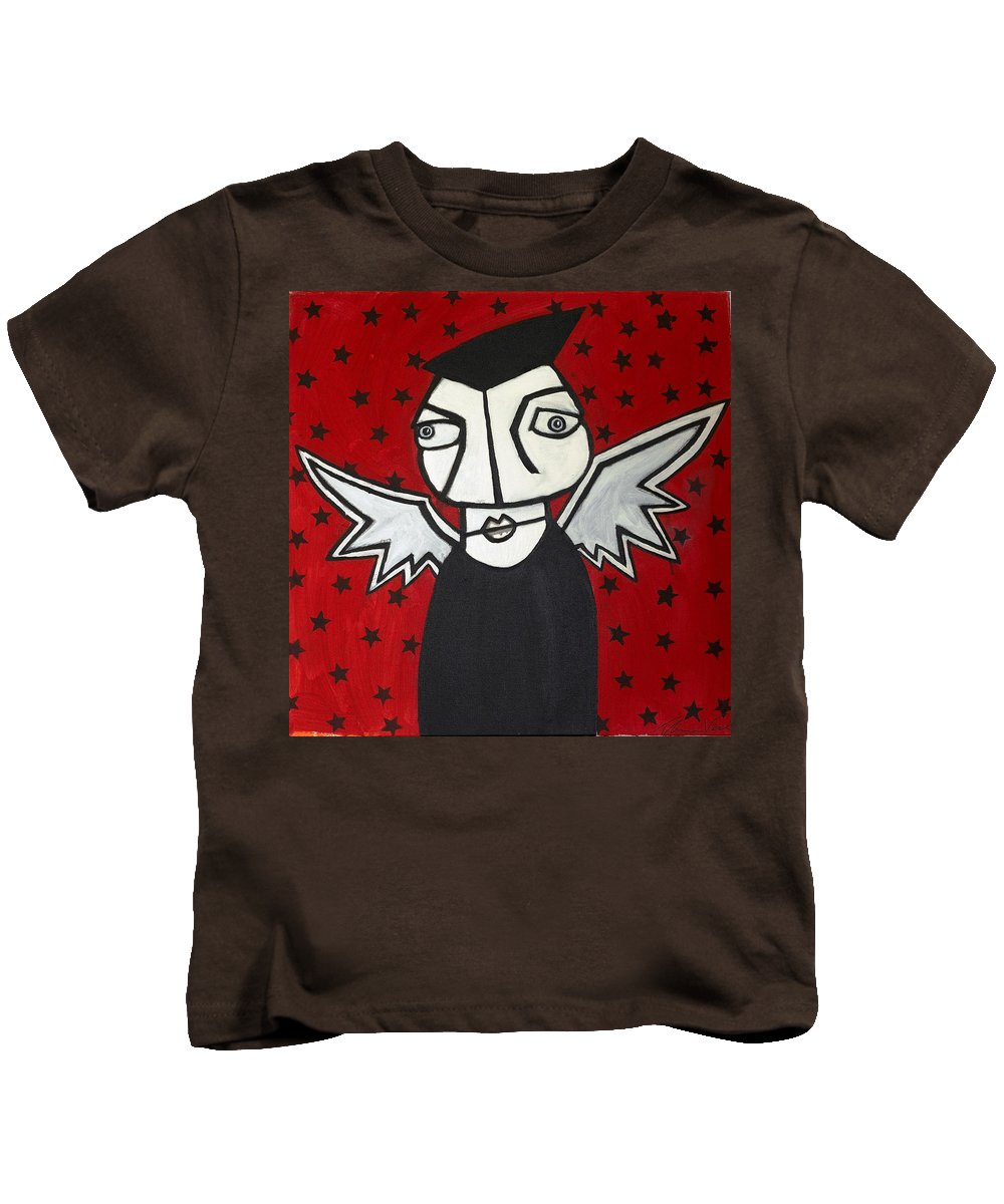 Clay Kids T-Shirt featuring the painting Mr.creepy by Thomas Valentine