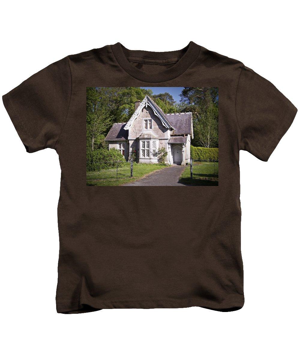 Irish Kids T-Shirt featuring the photograph Muckross Cottage Killarney Ireland by Teresa Mucha