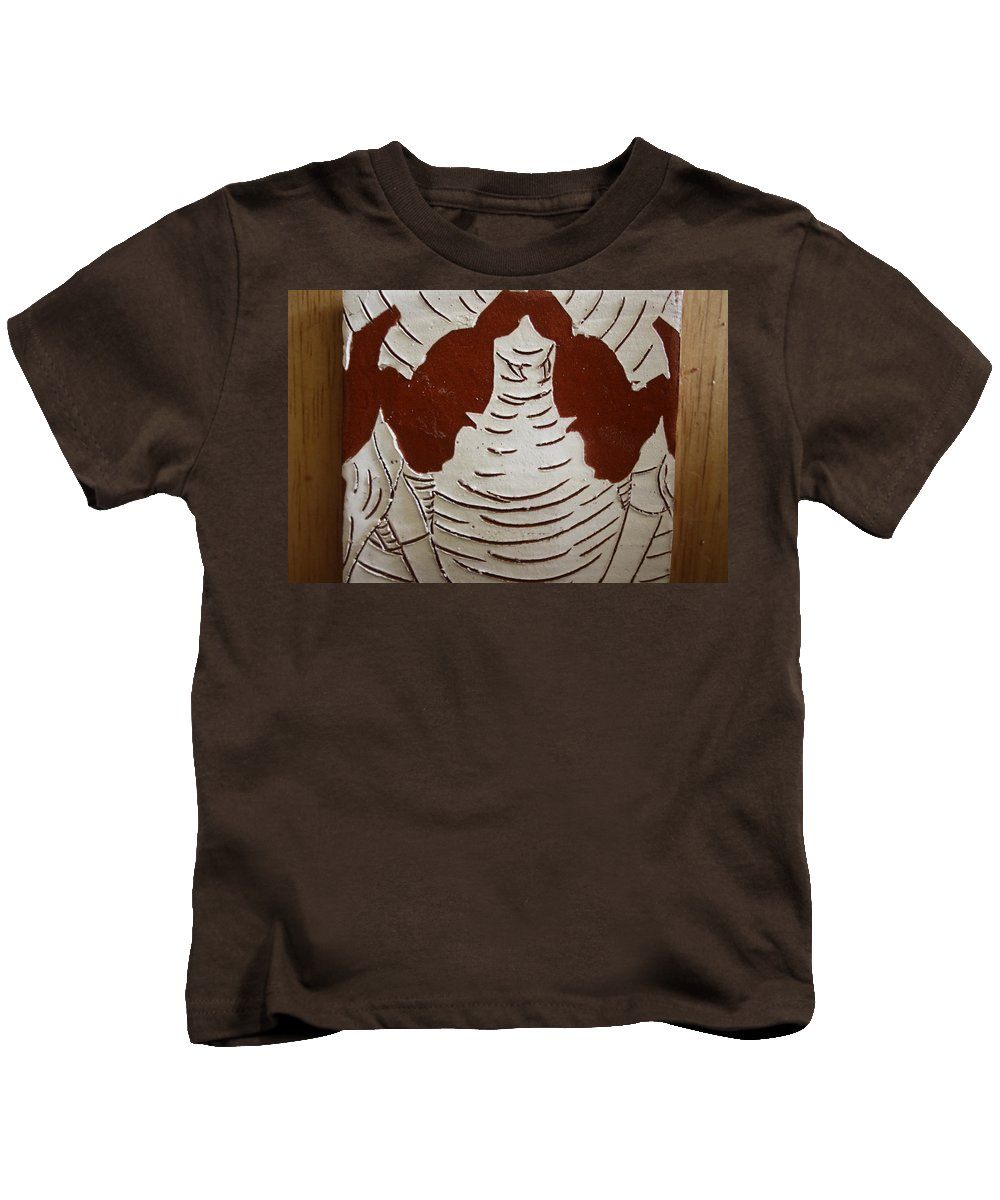 Jesus Kids T-Shirt featuring the ceramic art Mukama Atulabba - God Sees Us - Tile by Gloria Ssali