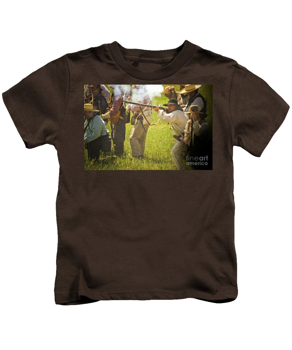 Battle At The San Jacinto Kids T-Shirt featuring the photograph My Turn by Kim Henderson