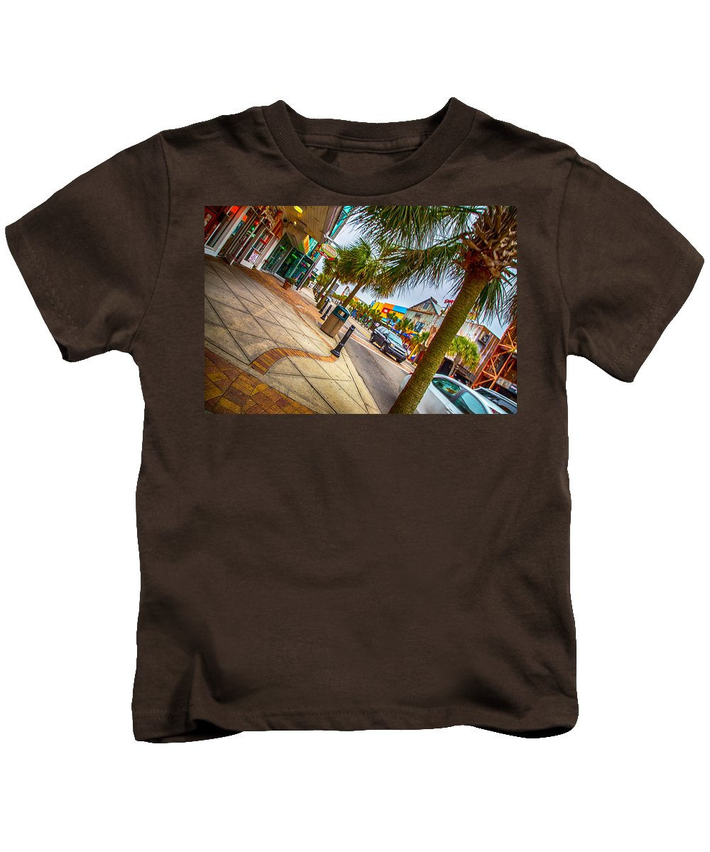 Myrtle Beach Shopping Kids T-Shirt featuring the photograph Myrtle Beach Shopping by Karol Livote