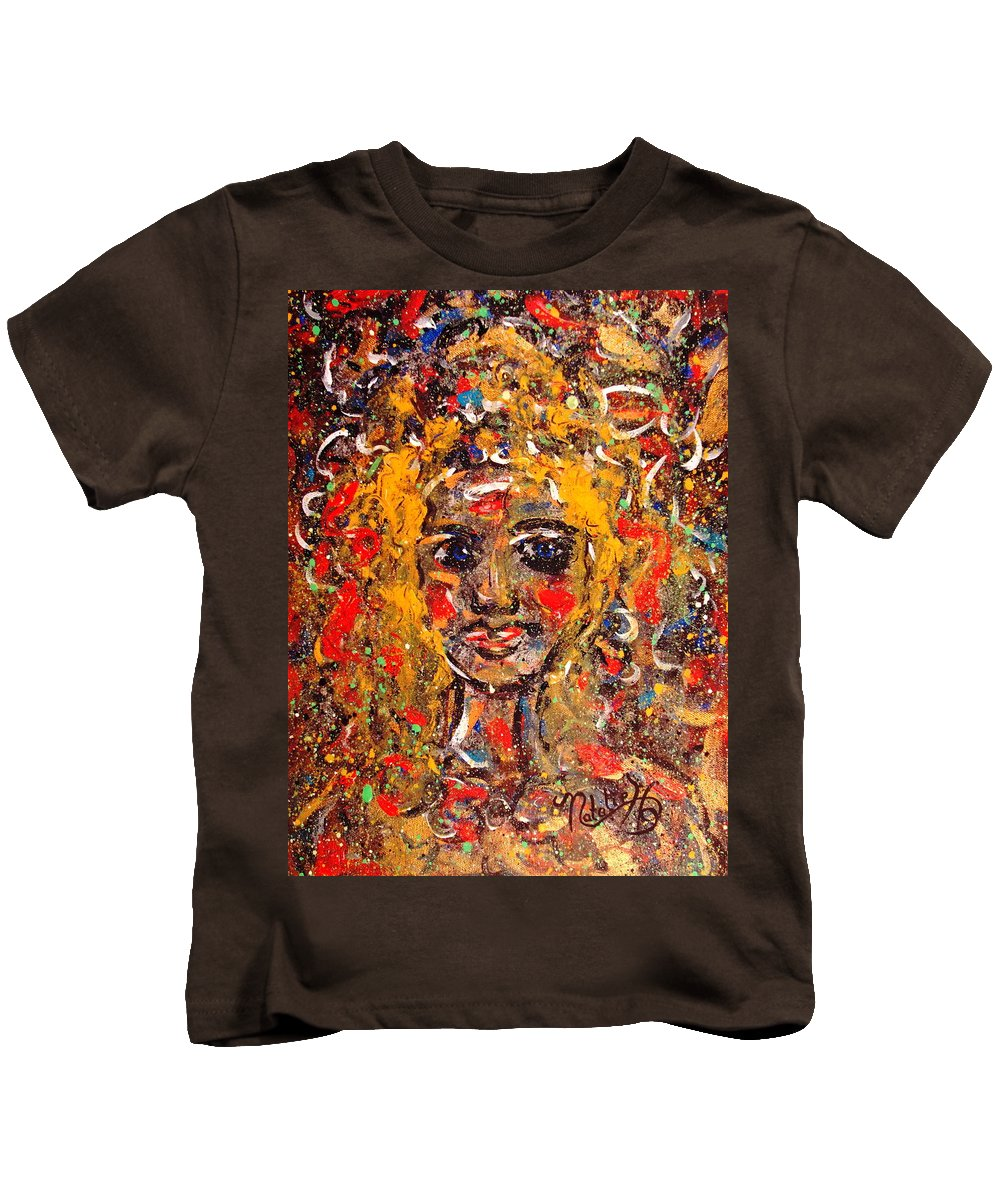 Impressionism Kids T-Shirt featuring the painting Mysterious Eyes by Natalie Holland