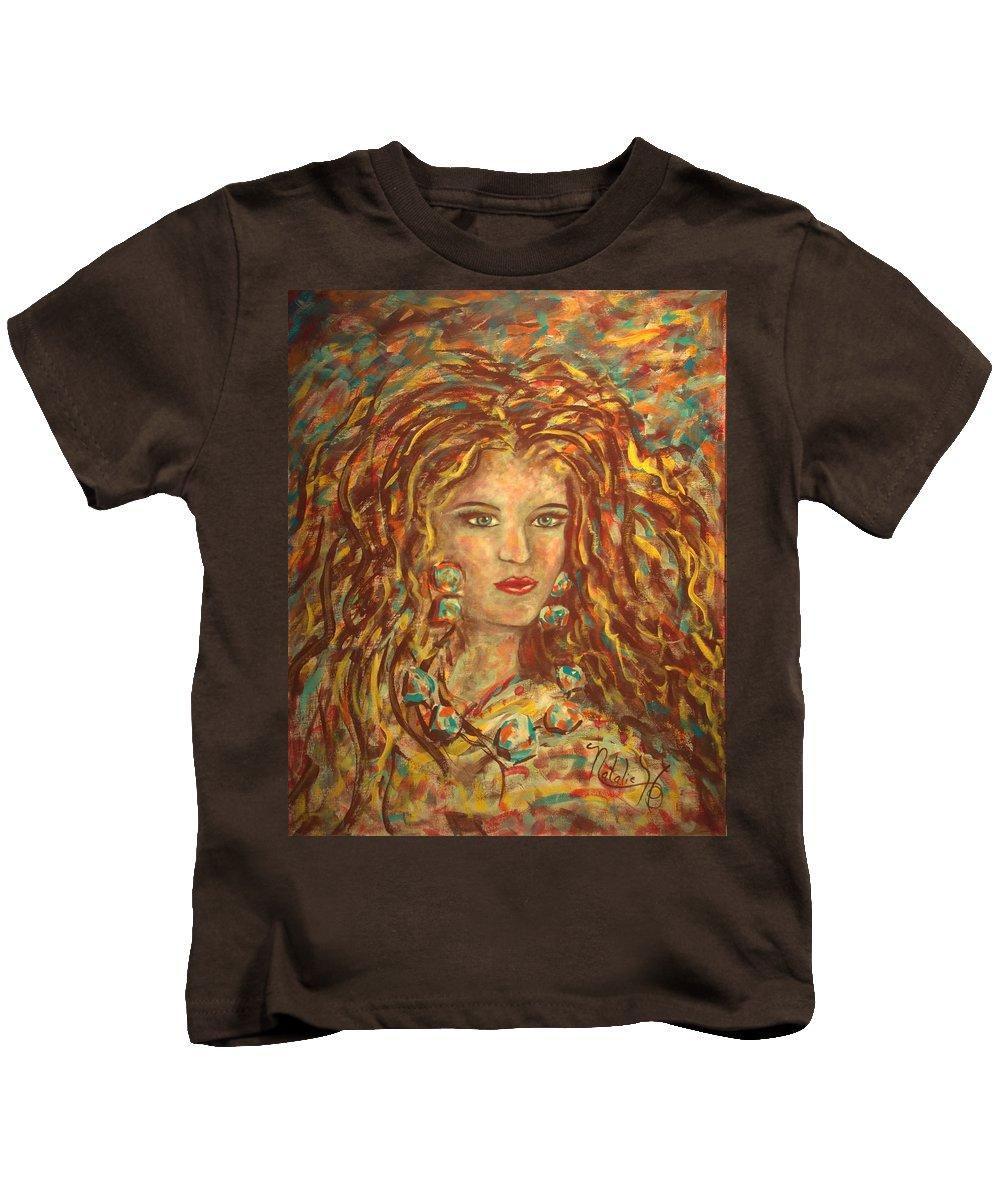 Natashka Kids T-Shirt featuring the painting Natashka by Natalie Holland