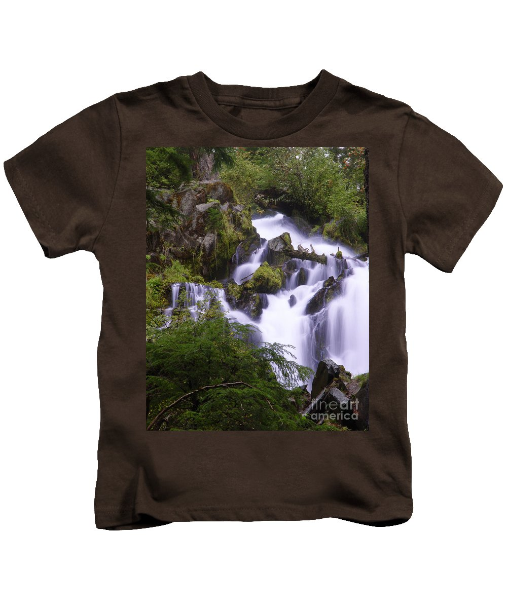 Waterfall Kids T-Shirt featuring the photograph National Creek Falls 05 by Peter Piatt