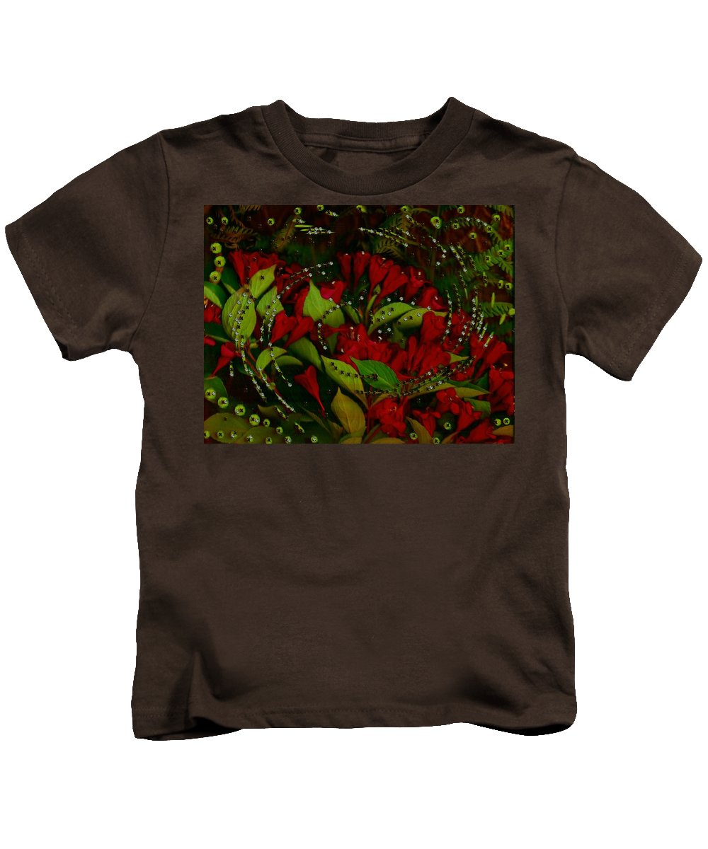 Flower Kids T-Shirt featuring the mixed media Nature When Its Magical by Pepita Selles