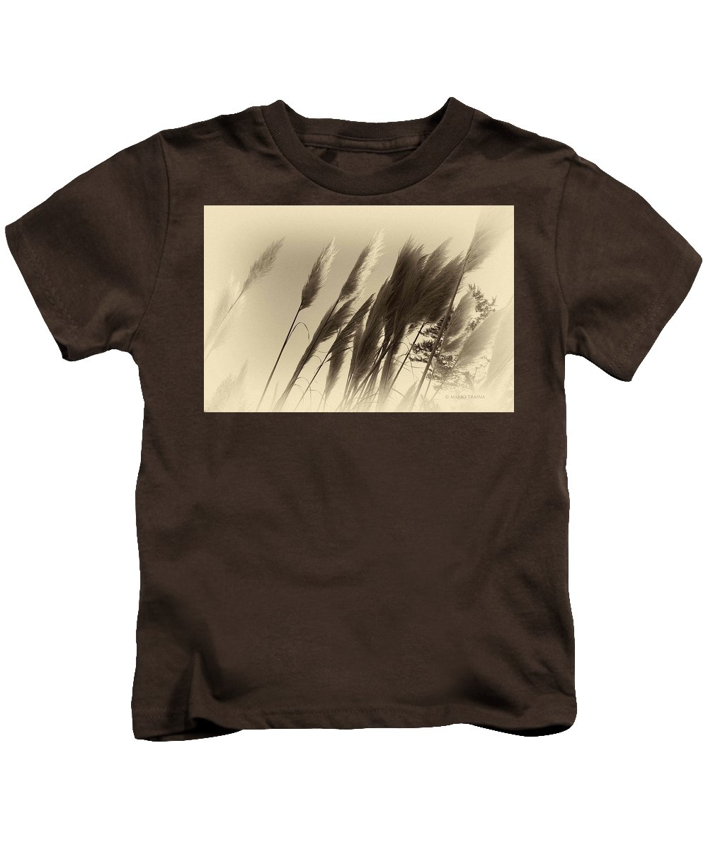 Landscape Kids T-Shirt featuring the photograph Natures Brushes by Mario Traina