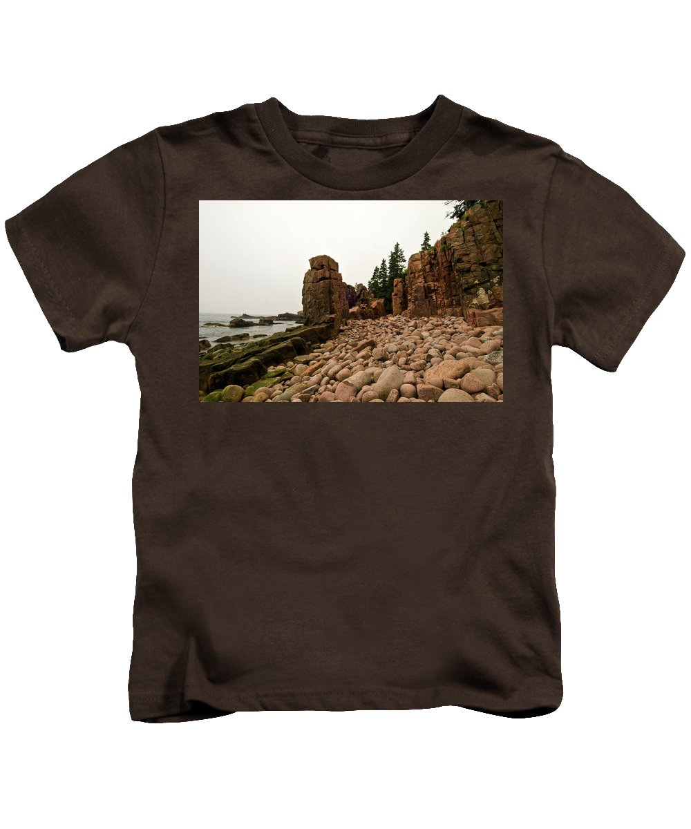 acadia National Park Kids T-Shirt featuring the photograph Natures Sculpture by Paul Mangold