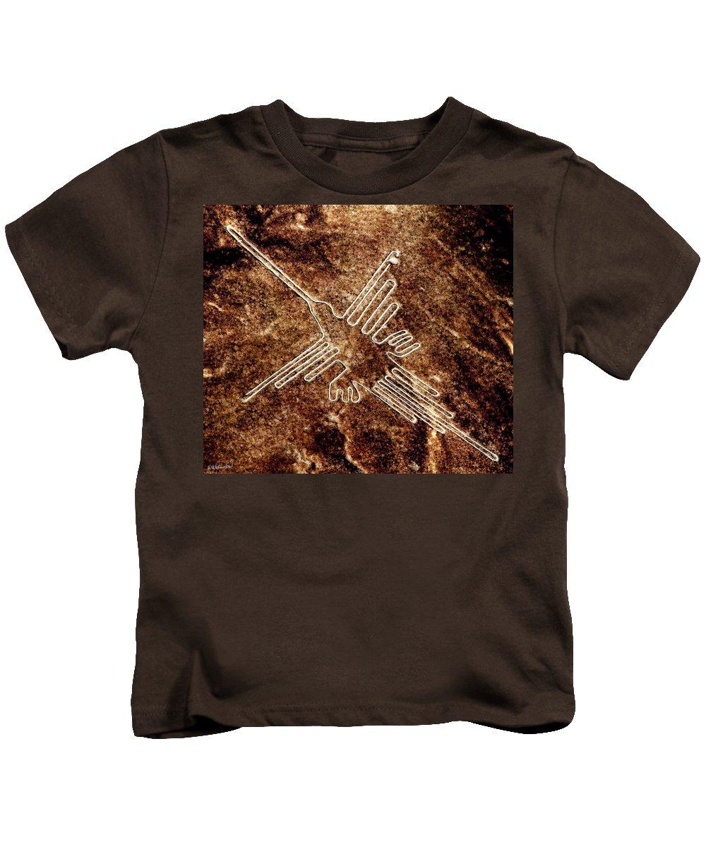 Nazca Hummingbird Kids T-Shirt featuring the painting Nazca Hummingbird by Weston Westmoreland