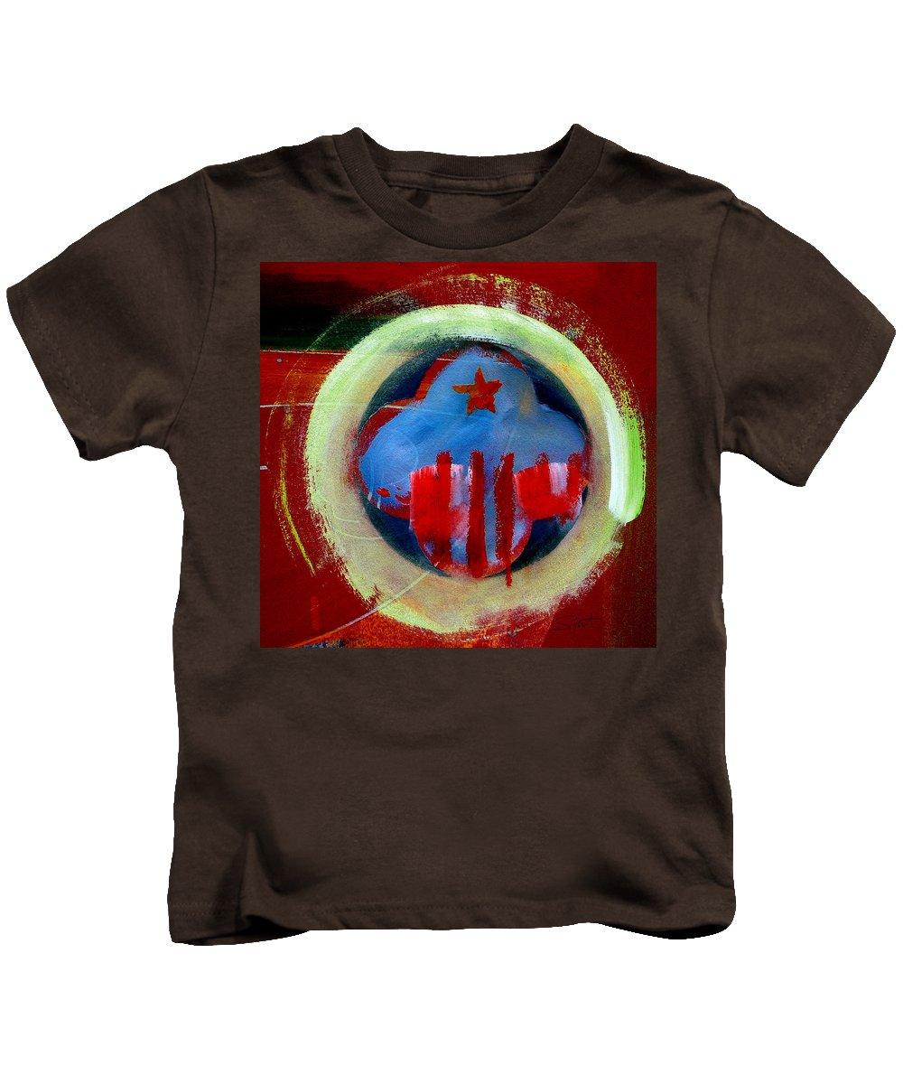 American State Kids T-Shirt featuring the painting Nebraska by Charles Stuart