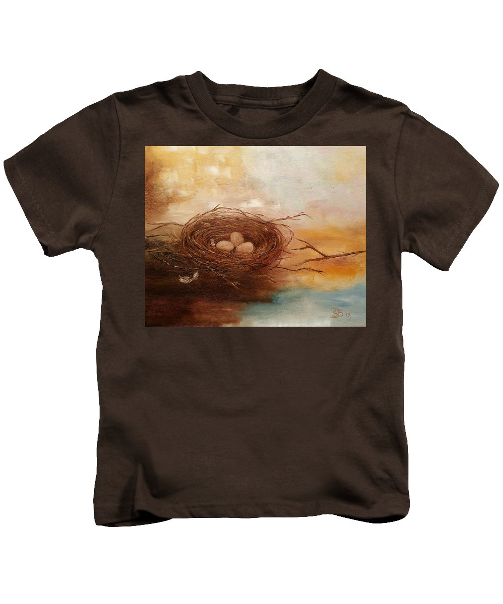 Nest Kids T-Shirt featuring the painting Nest by Snezana Bozic