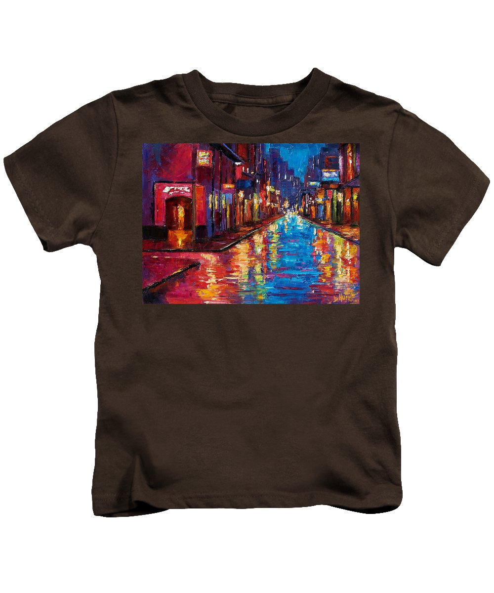 New Orleans Kids T-Shirt featuring the painting New Orleans Magic by Debra Hurd