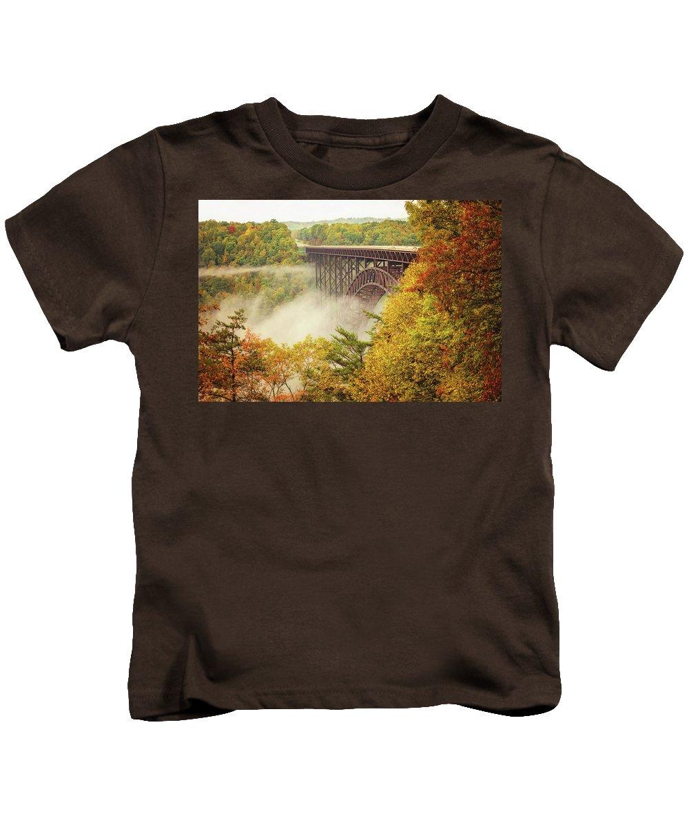 New River Gorge Bridge Kids T-Shirt featuring the photograph New River Gorge Bridge by Melissa Kniskern