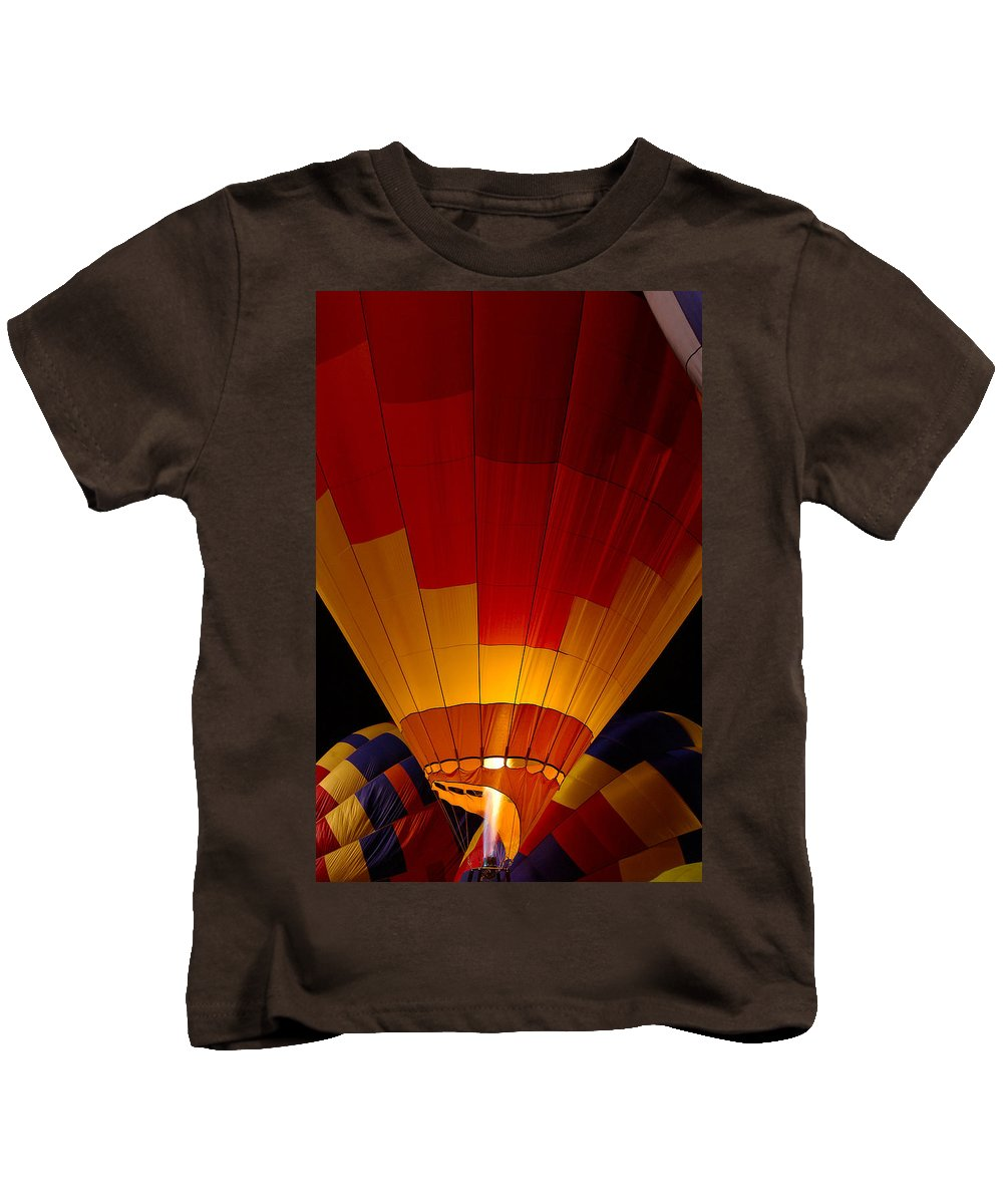 Balloon Kids T-Shirt featuring the photograph Night Flight by Mike Dawson