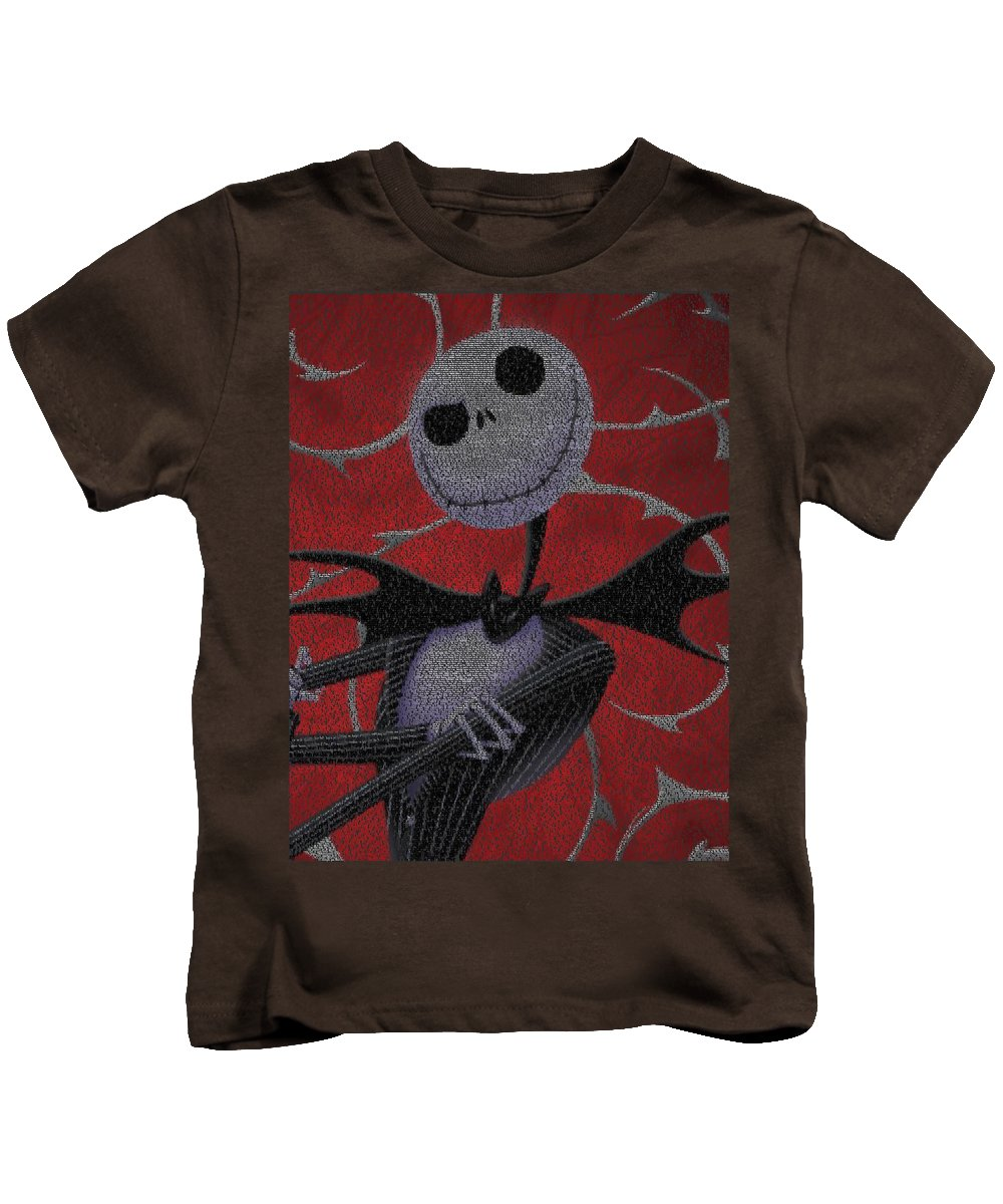 Nightmare Before Christmas Script Mosaic Kids T-Shirt for Sale by ...