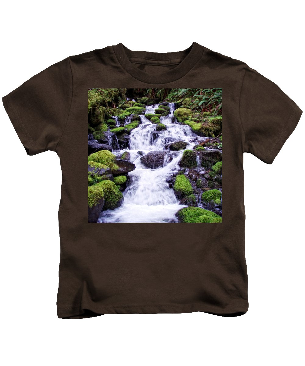 Columbia Gorge Kids T-Shirt featuring the photograph North Umpqua Wild And Scenic River by Ingrid Smith-Johnsen