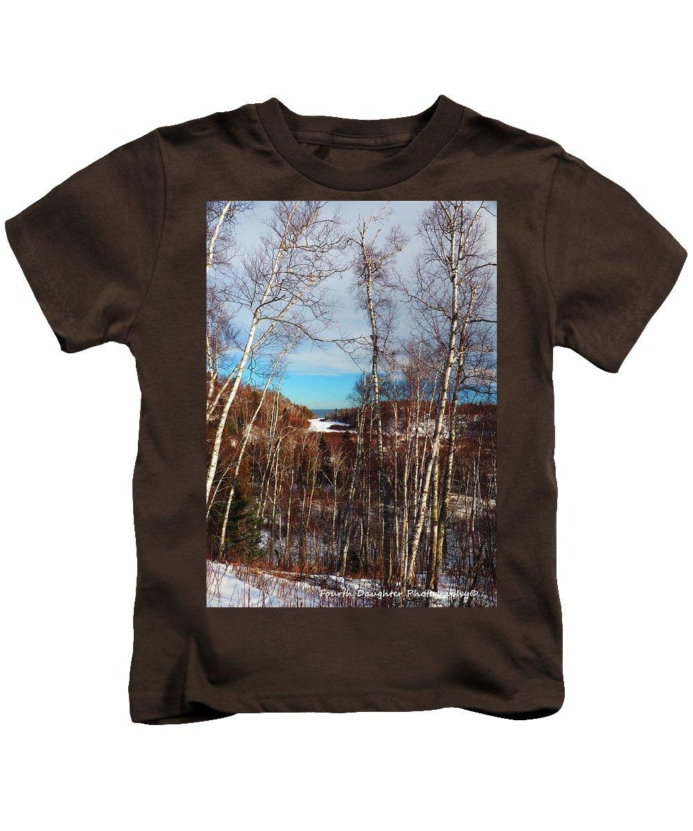 Grand Marais Kids T-Shirt featuring the photograph Northern Minnesota by Diane Shirley