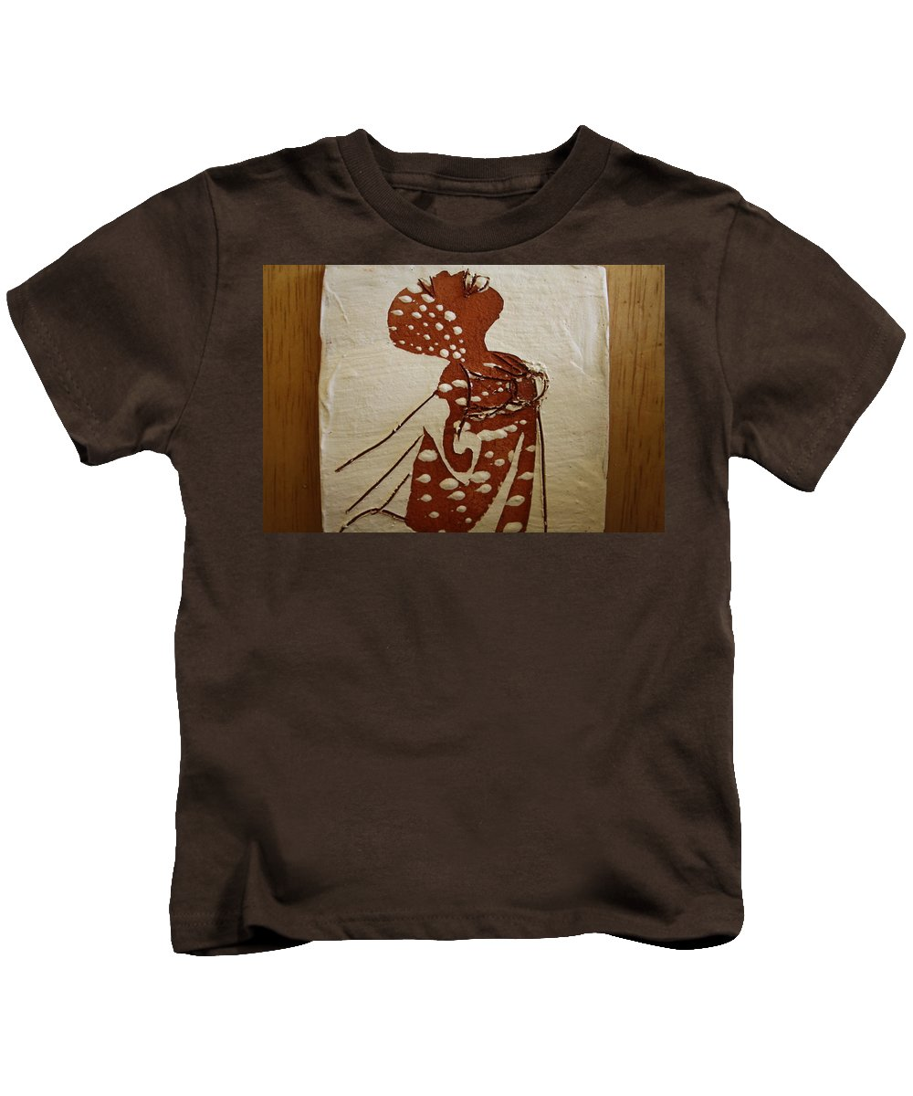 Jesus Kids T-Shirt featuring the ceramic art Nude 4 - Tile by Gloria Ssali
