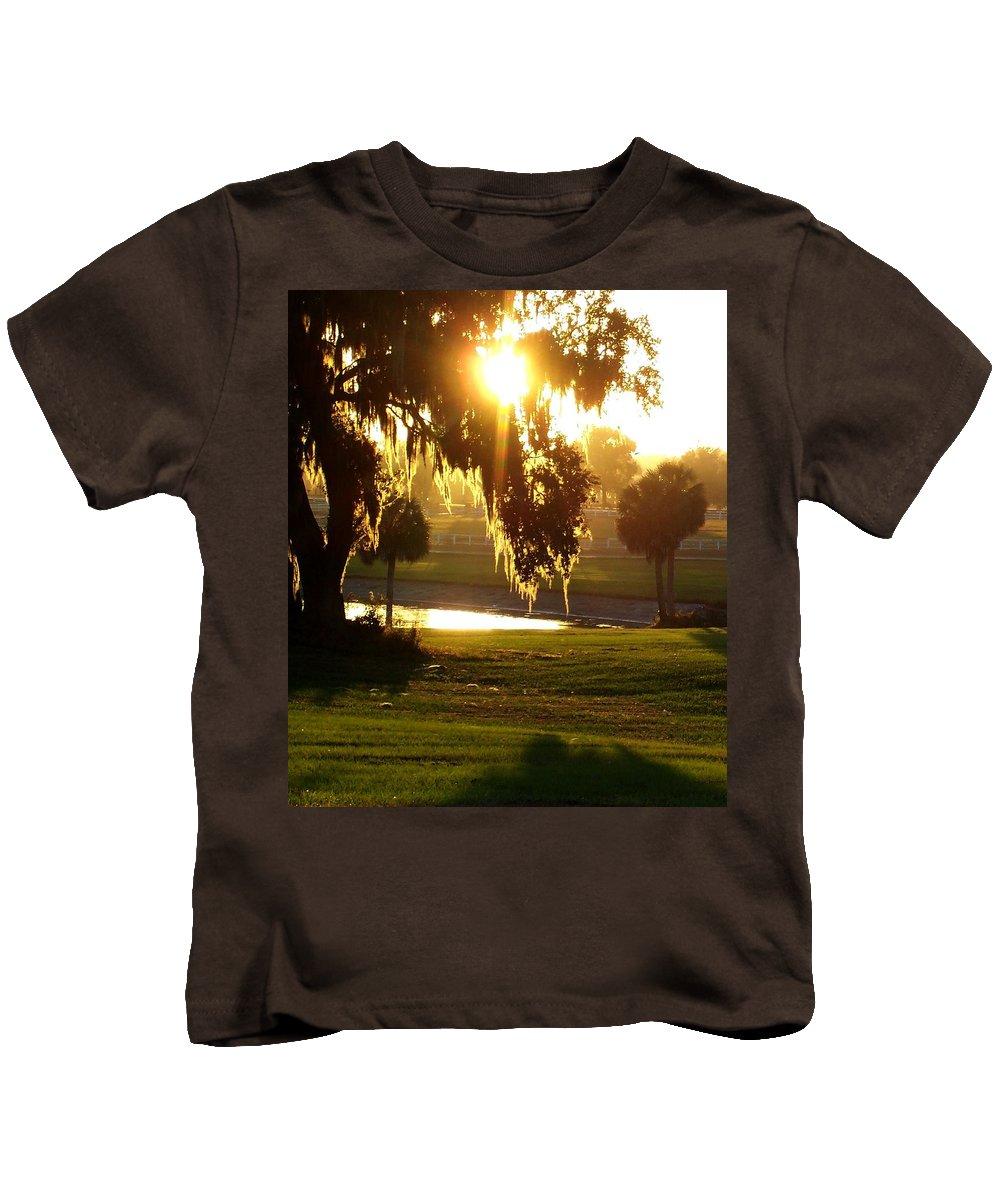 Sunset Kids T-Shirt featuring the photograph Ocala Sunset by Kristen Wesch