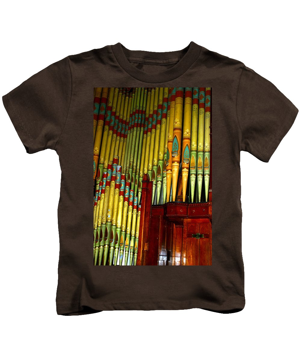 Organ Kids T-Shirt featuring the photograph Old Church Organ by Anthony Jones