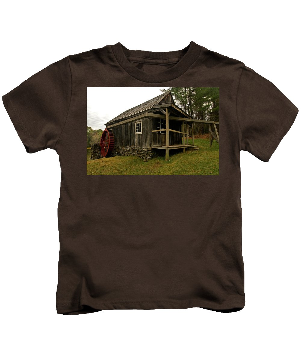 vermont Images Kids T-Shirt featuring the photograph Old Mill by Paul Mangold
