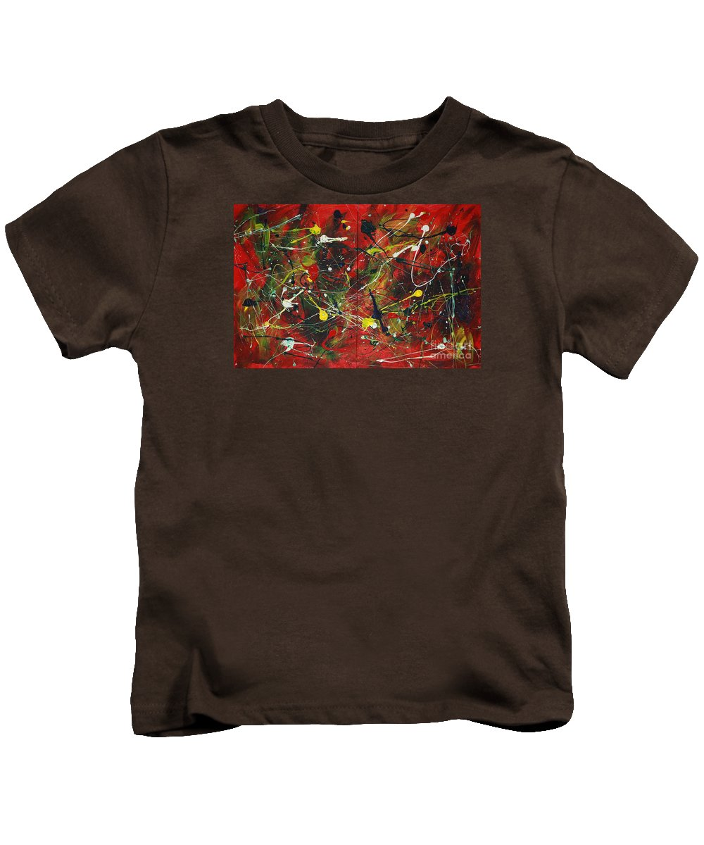 Splatter Kids T-Shirt featuring the painting On A High Note by Jacqueline Athmann