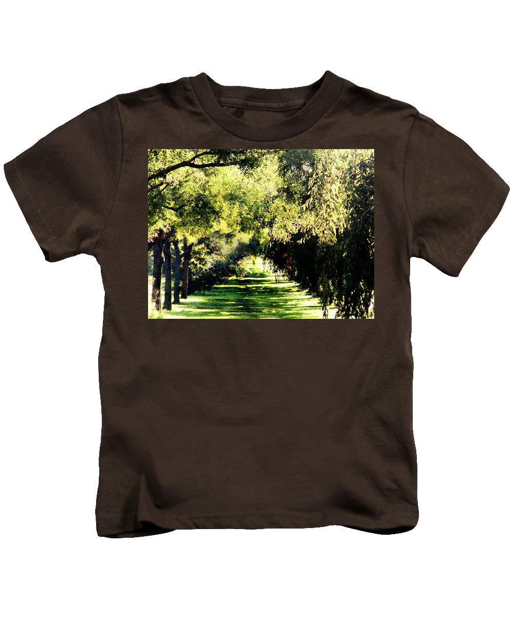 Philadelphia Kids T-Shirt featuring the photograph On The Path by Bill Cannon