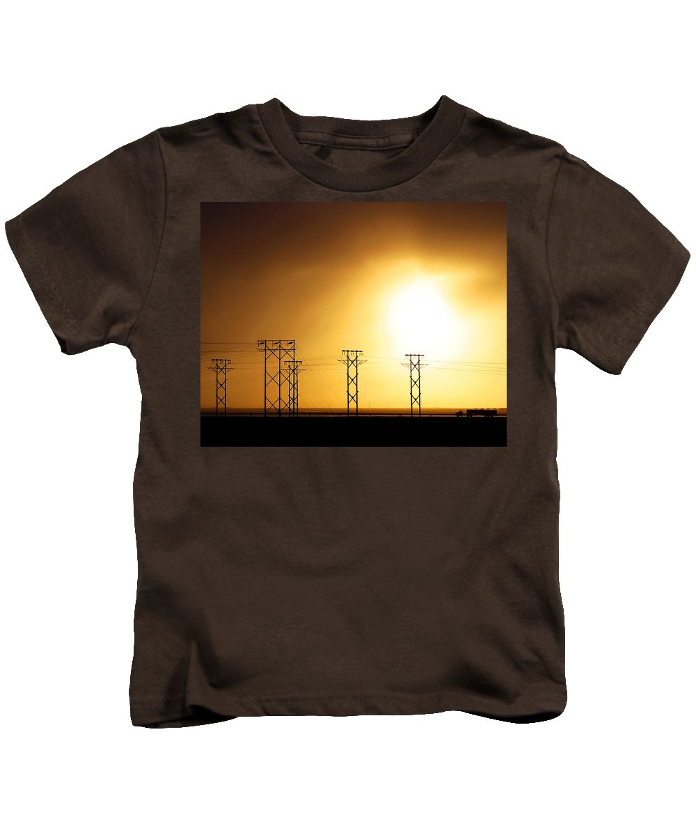 Truck Kids T-Shirt featuring the photograph On The Road by Anthony Jones