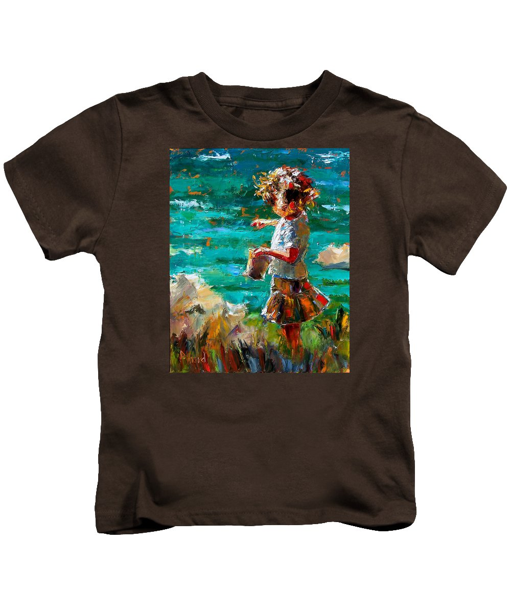 Children Kids T-Shirt featuring the painting One At A Time by Debra Hurd