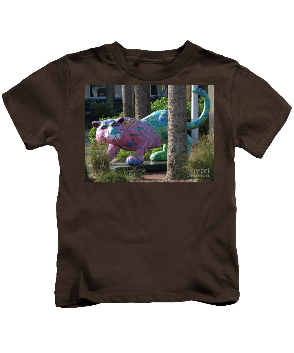 Patzer Kids T-Shirt featuring the photograph Only At The Beach by Greg Patzer