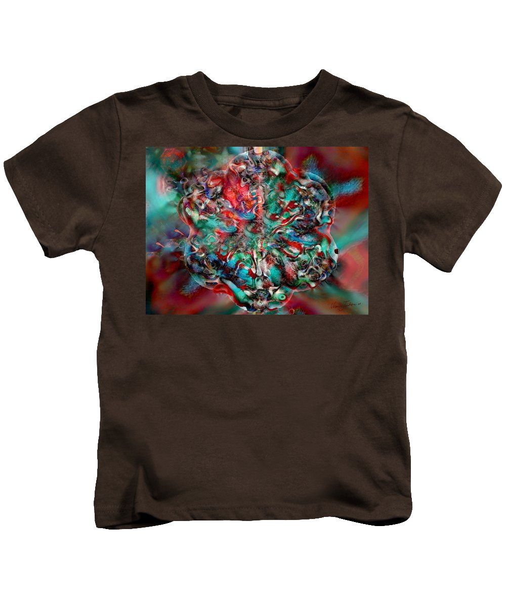 Heart Passion Life Kids T-Shirt featuring the digital art Open Heart by Veronica Jackson